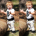 2017 Verano 2 UNIDS Set Newborn Baby Girl Boy Camisetas de Manga Corta Negro Pantalones Leggings Disfraces Monstruo Mamelucos Blancos corona ropa