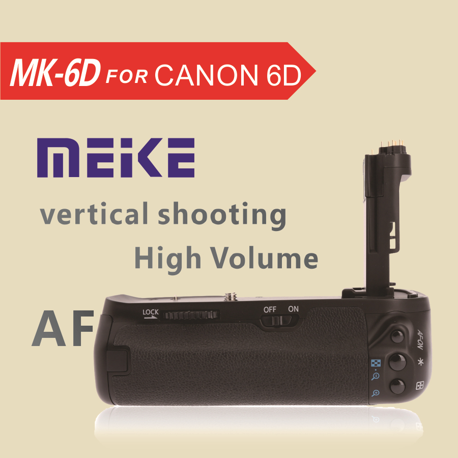 MEKE Meike MK 6D Vertical Battery Grip Holder for Canon 6d