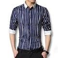 2016 Новый Мужчины Раздели Рубашки Сорочка Homme Camisa Masculina мужская Повседневная Мода Slim Fit С Длинным Рукавом Большой Размер рубашки