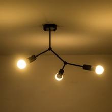 Modern demir Led tavan ışıkları sanat kolye lamba Led tavan ışık oturma çalışma odası yatak odası ev dekorasyon 3/4/6 kafaları