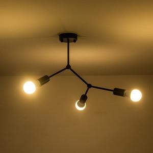 Image 1 - 現代の鉄ledシーリングライトアートpandant ledシーリングライトリビング研究ルームベッドルームホームデコレーション3/4/6ヘッド