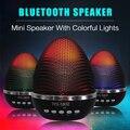 Bluetooth speaker portátil mini sem fio levou falantes mp3 player mini sd fm função led ovo de páscoa caixa de som bluetooth