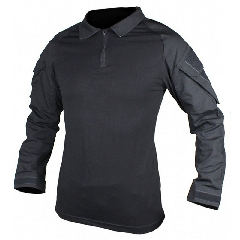 CQC Military Army Airsoft Tactical Shirt Black Gen2 Men Long Sleeve Hunting Paintball BDU Combat Shirt With Elbow Pads