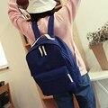 Daypacks Casuais das mulheres Da Lona Mochilas Mochilas Escolares Para Adolescente Meninas de Cor Sólida Formal Senhoras Sacos de Viagem Mochila Mochila
