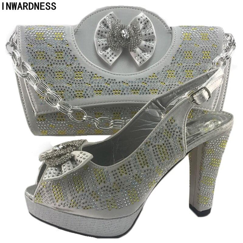 Para De Boda Zapatos Zapato Y plata Nueva T Bolsa Llegada Italiano Las Plata púrpura La Mujeres Fiesta Color oro Blue vOvq8gI