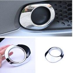 Para Mercedes smart 453 forfour para dos faros antiniebla delanteros accesorios para coche exterior pegatina ABS cromado adorno para coche estilo 2 piezas