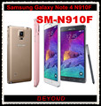 "Samsung Galaxy Note 4 N910F Original Desbloqueado GSM 4G LTE Android Telefone Celular Quad Core 5.7 ""RAM 3 GB ROM 16MP 32 GB Dropshipping"