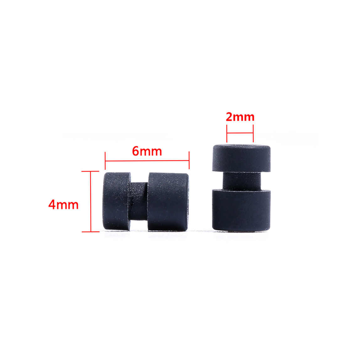 M2 * 4 M2 Anti-Vibratie Wasmachine Rubber Demping Bal voor Flight Controller RC Racing Helicopter 10 Stuk
