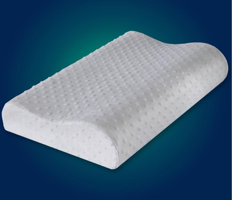memory foam pillow white orthopedic pillow latex neck pillow fiber slow rebound soft pillow massager cervical