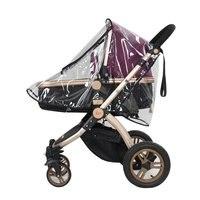 طفل عربة المظلة العالمي الطفل المظلة عربة مضادة للماء غطاء للمطر حاجز الرياح معظم عربة يدفع باليد-في اكسسوارات عربات الأطفال من الأمهات والأطفال على