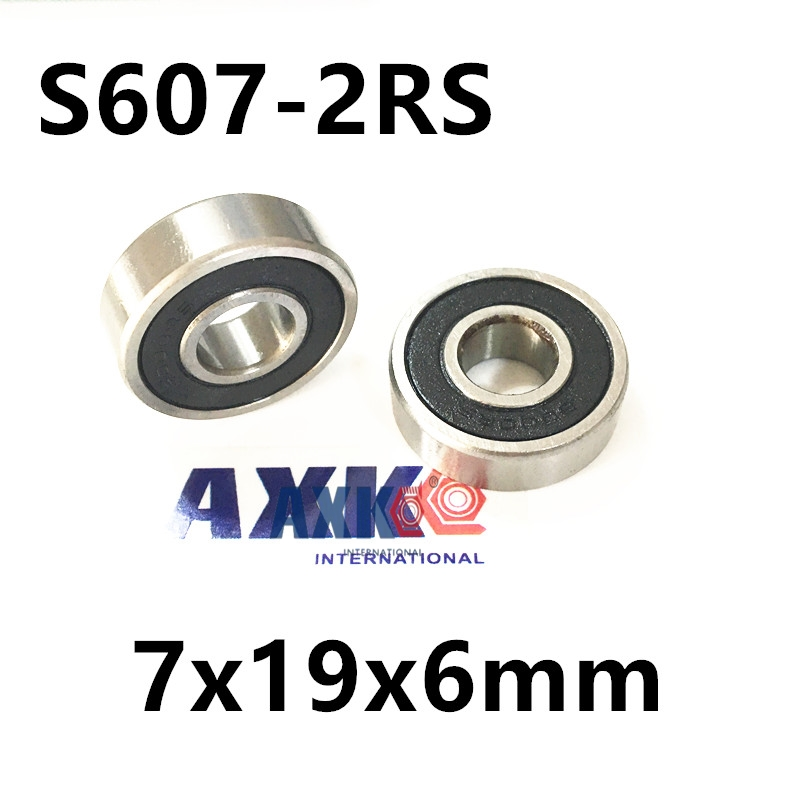 Free shipping S607-2RS CB stainless steel 440C hybrid ceramic deep groove ball bearing 7x19x6mm free shipping s625 2rs cb stainless steel 440c hybrid ceramic deep groove ball bearing 5x16x5mm