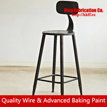 Colorful old chairs American bar style chairs elegant alloy high chair customized support