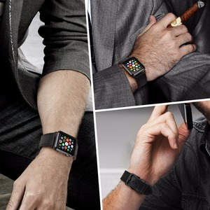"Image 4 - MAIKES עור צפו בנד עבור אפל שעון 44 מ""מ 40 מ""מ/42 מ""מ 38 מ""מ סדרת 4 3 2 1 Watchbands עבור iWatch אפל שעון רצועה"