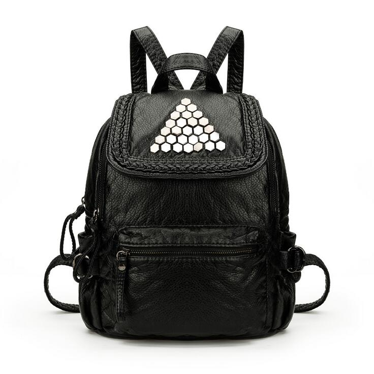 stacy bag 091816 hot sale lady fashion PU leather backpack female travel bag