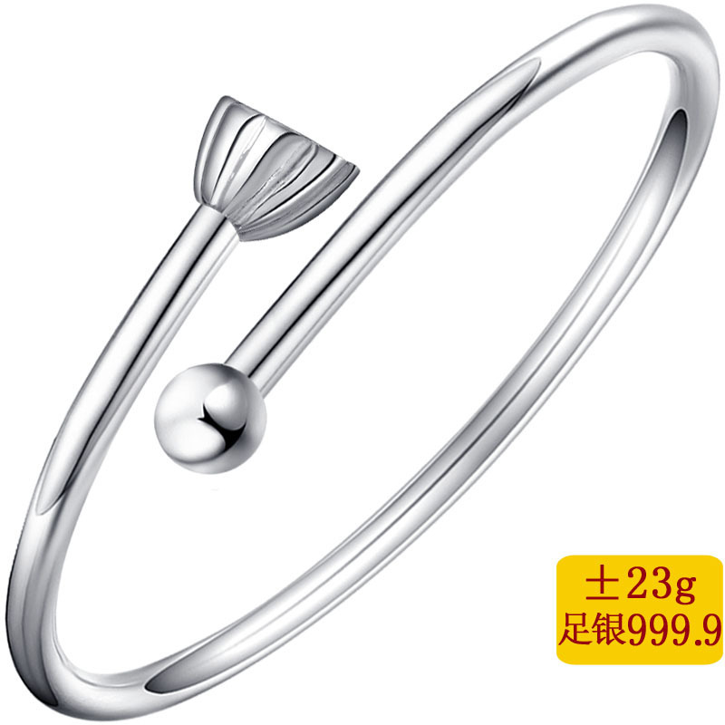 2019 New Bangle Fine 999.9 Lotus Nut High-ranked Imperial Concubine Bracelet Accessories Girlfriend Good Girlfriends A Gift 2019 New Bangle Fine 999.9 Lotus Nut High-ranked Imperial Concubine Bracelet Accessories Girlfriend Good Girlfriends A Gift