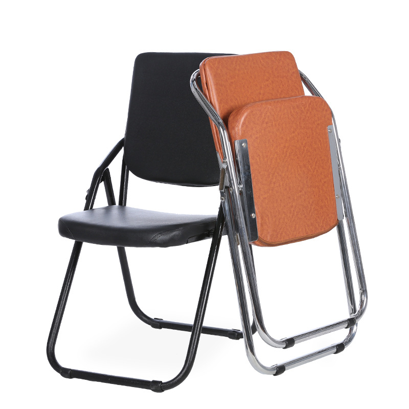 3 pcs lot portable office computer chairs home with a simple back folding chair conference