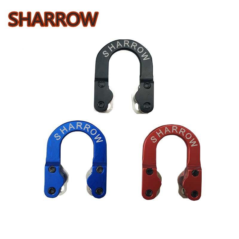 1 PC Alumínio D Loop Liberação de Liberação de Segurança Corda Para Arco Composto Arco De Metal Corda Nock Caça Tiro Tiro com arco Acessórios