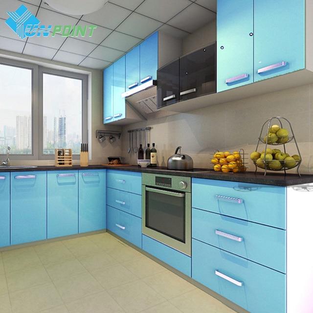 60cmx3m Kitchen Cabinet Renovation Stickers Blue Diy