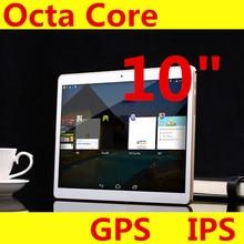 """10 """"tableta del IPS de la Pantalla 1280*800 Octa Core MTK6592 3G 4G Llamada de Teléfono 4 GB/128 GB Dual SIM 5.0MP del Androide 5.1 Bluetooth GPS Tablet PC"""