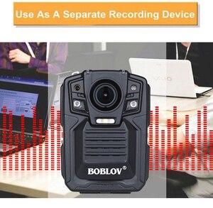 Image 3 - BOBLOV HD66 02 Ambarella A7L50 policja kamera do noszenia przy ciele 64GB HD 1296P rejestrator wideo + pasek na ramię