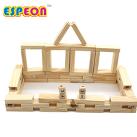 54pcs Set Wooden Tower Wood Toy Domino Stacker Extract Figure Blocks Jenga Game Healthy Funny Children