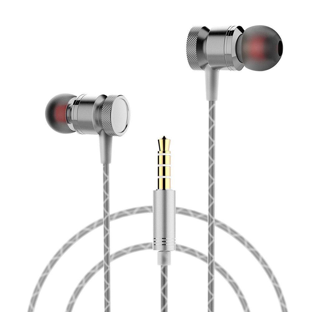 3.5mm In Ear Stereo Wired Sports Earphones GPK3 HiFi Stereo Headphone Music Metal Earphone Earbuds With Mic for Android Phone