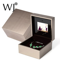 Ritzy Engagement Ring Box with LED Light Music Video Playing Bracelet Pendant Necklace Storage Wedding Propose Ring Display Box