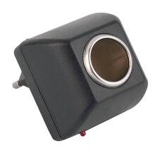 1 шт. автомобильный блок питания адаптер конвертер 220 В в DC 12 В зарядное устройство прикуриватель настенная розетка питания для дома ЕС вилка