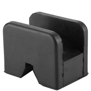 Image 4 - Black Slotted Frame Rail Floor Jack Disk Rubber Pad Fits For Pinch Weld Side HOT