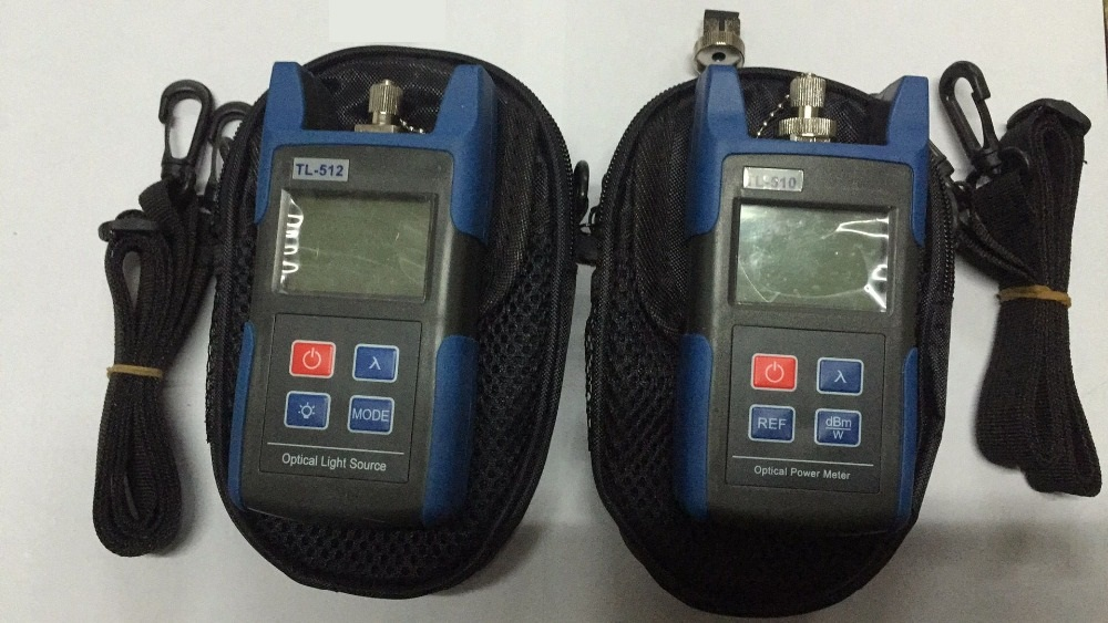 Fiber Optical Multimeter TL510C-50~+26dBm Handheld Fiber Optical Power Meter + TL512 Fiber Optical Light Source 1310/1550nm