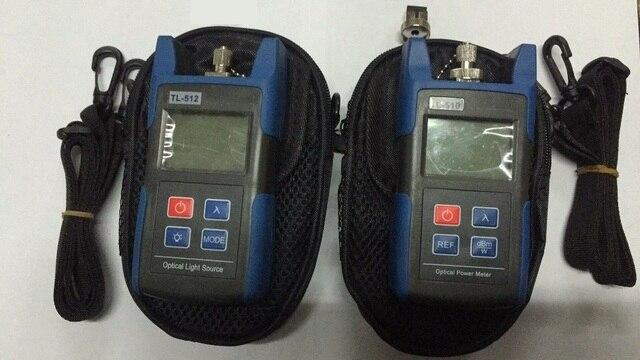 Fiber Optical Multimeter TL510C-50~+26dBm Handheld Fiber Optical Power Meter + TL512 Fiber Optical Light Source 1310/1550nm