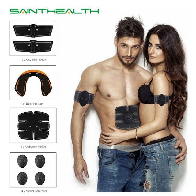 スマート EMS 電気パルス治療マッサージ腹部筋肉刺激装置家庭用フィットネス腹部筋肉スポーツトレーナー機器