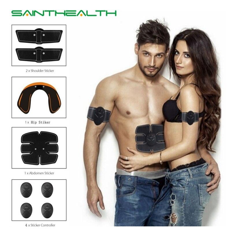 Envío de la gota Abdominal máquina estimulador muscular eléctrico ABS ems entrenador fitness pérdida de peso adelgazamiento de cuerpo masaje sin caja