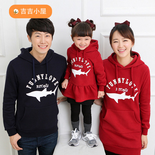 Autumn and winter Family clothing fall autumn and winter long-sleeved hoodies and sweate ...