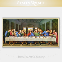 Skilled Artist Pure Hand painted High Quality The Last Supper Oil Painting on Canvas Famous Da Vinci Jesus Last Supper Painting