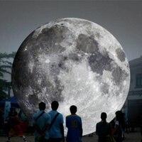 Топ Номинальная открытый 13ft гигантские надувные луна мяч со светодиодной подсветкой надувной планета шар для рекламы
