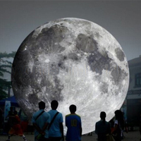 Top rated outdoor 13ft giant inflatable moon ball with LED light inflatable planet balloon for advertising