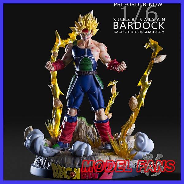 MODEL FANS INSTOCK shadow studio Dragon Ball Z 28cm son goku's father super saiyan Burdock gk resin figure toy for Collection