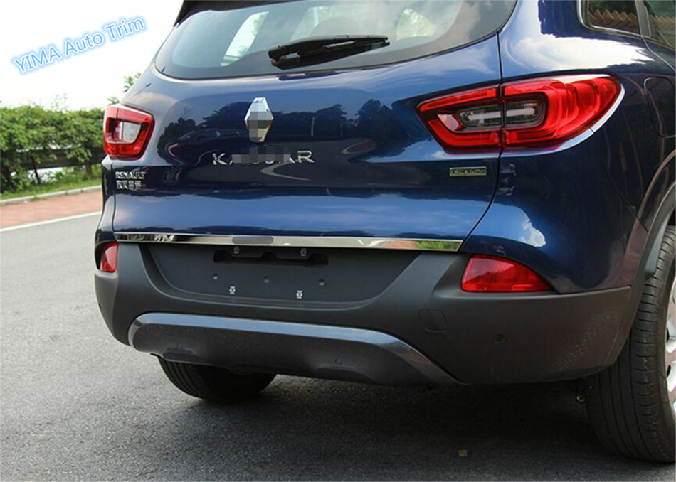 New Style For Renault Kadjar 2016 Stainless Steel Rear Tail Trunk Lid Cover Trim 1 Pcs