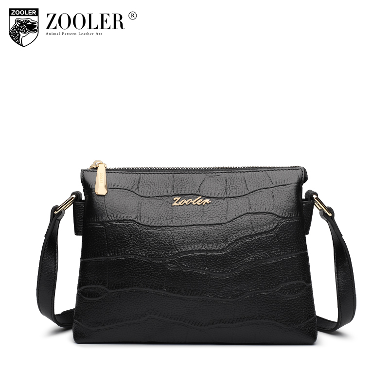 ZOOLER Women's Genuine Leather Shoulder Bags Handbags Women Famous Brands Small Messenger Bag Ladies Crocodile Pattern Bags Sac zooler fashion genuine leather tote bags handbags women famous brands female shoulder bag for women messenger bags sac a main