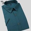 Los hombres camisas de vestir 2017 del verano nueva llegada de la alta calidad con estilo floral clothing hombres de negocios casual camisa de algodón delgada 5xl n207