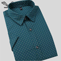Men Dress Shirts 2017 Summer New Arrival High Quality Stylish Floral Business Clothing Male Slim Cotton Casual Shirt 5XL N207
