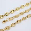 Gold Plated 316L stainless steel chain necklace men long punk statement  chain necklace vintage men jewelry HY135