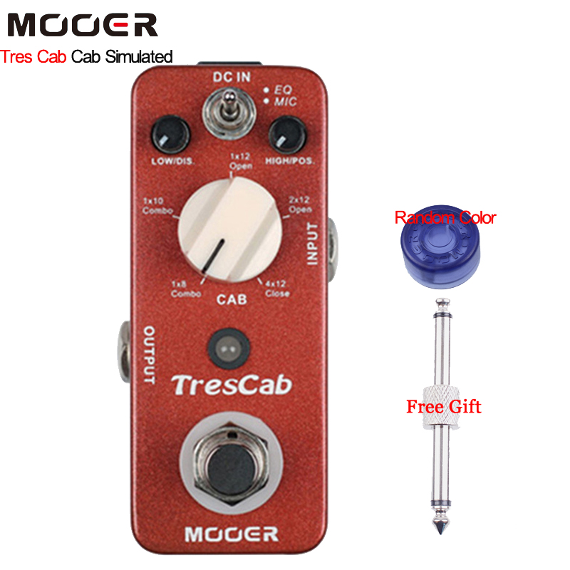 Mooer TresCab Cab Simulated Guitar Effect Pedal Offers 5 Different Types of Cab Choices With Free Connector