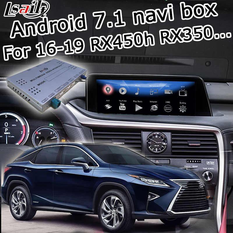 Android/carplay interfejs box dla Lexus RX 2016-2019 12.3 interfejs wideo z zdalne sterowanie dotykowe sterowanie RX350 RX450h przez lsailt