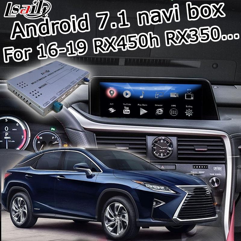 Boîte de navigation GPS Android pour Lexus RX 2016-2019 12.3 interface vidéo avec souris télécommande tactile RX350 RX450h par lsailt