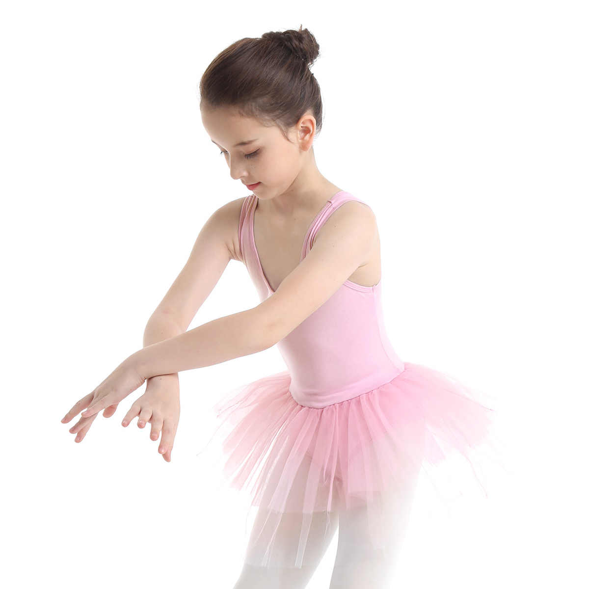IEFiEL балетная пачка для девочек танцевальное школьное платье подростковое хлопковое Многоуровневое Сетчатое балетные и гимнастические трико для детского костюма платье