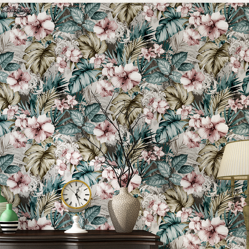 beibehang Romantic pastoral flower wallpaper living room bedroom imported non - woven paper background wallpaper decoration beibehang lovely abc print kid bedding room wallpapers ecofriendly fantasy non woven wall paper children mural wallpaper roll