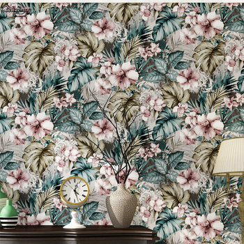 beibehang Romantic pastoral flower wallpaper living room bedroom imported non - woven paper background wallpaper decoration