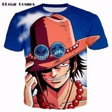 PLstar Cosmos Classic Anime One Piece 3D Print Ace t-shirt summer t shirts Short sleeve tshirt Cartoon women/men T shirt tops